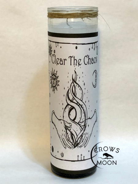 Clear The Chaos Fixed Conjure Candle | CrowsMoon.com