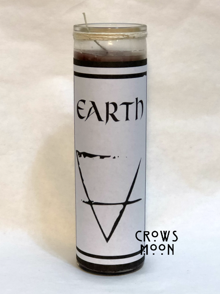 Element Of Earth Fixed Witchcraft Candle | CrowsMoon.com
