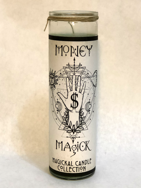 Money Magick Fixed Conjure Candle | CrowsMoon.com